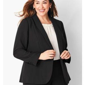 Talbots | black single button blazer